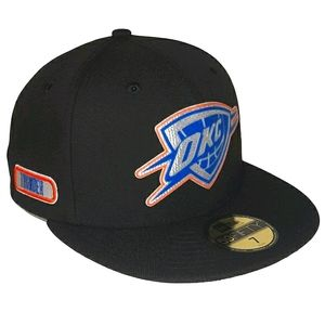 Oklahoma City Thunder Back Half Fitted Hat BLACK